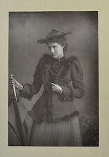 1890s Cabinet Card Portrait Photo Miss Lily Hanbury Actress W&D Downey