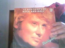 Disque vinyle de Johnny Hallyday le bon temps du rock and roll