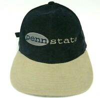 Penn State Blue Tan Corduroy Baseball Hat Cap Nittany Lion Adjustable