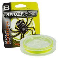 Spiderwire Stealth Smooth 8 Fishing Braid Hi Viz Yellow 150m, 300m Braided Line