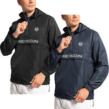 Sergio Tacchini Mens Cinto Half Zip Pullover Hooded Rain Jacket Coat Anorak