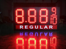 """LED Gas Price Sign 12"""" X 40"""" Red or Green 
