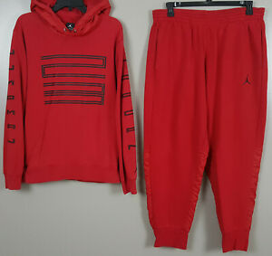 NIKE AIR JORDAN XI RETRO 11 WIN LIKE 96 SWEATSUIT HOODIE +PANTS RED (LARGE / XL)
