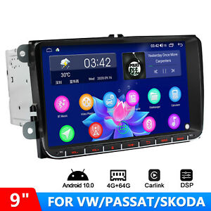 """JOYING 9"""" Android 10 Double Din DSP Car Radio 4+64GB For  VW Golf 5 Jetta Polo"""