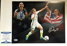 Alex Morgan Signed Autographed 11x14 Photo USWNT Soccer Team BECKETT COA 1
