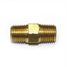 "1/4"" NPT Male thread  Brass Hex Nipple pipe fitting air fuel water FA414"