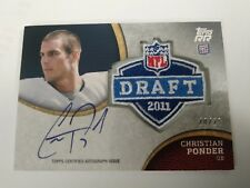 Christian Ponder 2011 Topps Rising Rookies NFL Draft Patch Auto #20/25 Vikings