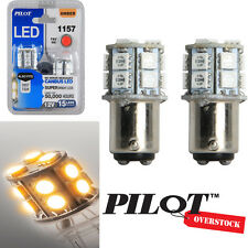 Pilot Automotive 1157 Amber LED Light Bulbs pack of 8 - US SELLER w/ Warranty