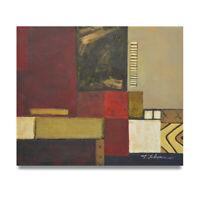 NY Art - Mixed Media Burlap Abstract 20x24 Original Oil Painting on Canvas!