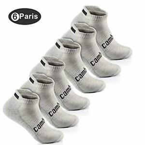 CAMBIVO 6 Pairs Running Socks for Men & Women, Low Cut Cushioned Sports