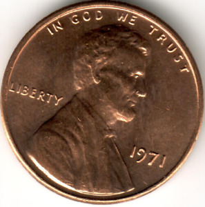 USA - 1971-P - Uncirculated - Lincoln Memorial Cent (1)