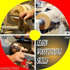 WOODTURNING & LATHE SKILLS FOR BEGINNERS A VIDEO DVD SKILLS/TOOLS/MATERIAL+ NEW