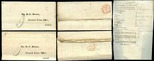 IRELAND 1824 TURNED LETTERS DUBLIN NORWICH UNION MORGAN + WARD...2 ITEMS