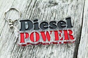 Diesel power keychain car auto keyring turbo petrol mechanic Schlüsselanhänger