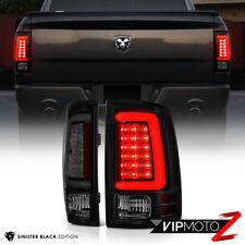 """2009-2018 Dodge RAM 1500 2500 3500 """"DARKEST SMOKE"""" OLED Tail Lights Assembly SET"""