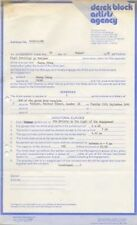 Huang Chung Marquee Club Performance Contract 5/12/81