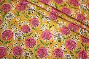 Floral 100% Cotton Ikat Batik Hand Block Printed Dress Material Craft Fabric