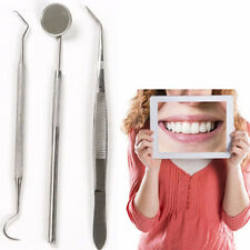 Handle Tools Dental Tool Dentist Clean Hygiene Stainless Steel Mirror Kit