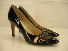 Womens sz 9 M adrienne vittadini cari black patent leather pump shoes high heels