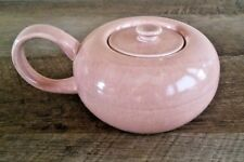 Russel Wright American Modern Coral Lidded Sugar Bowl Steubenville Pottery