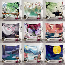 Wall Hanging Traditional Chinese Style Landscape Tapestry Beach Towel Yoga Mat