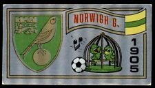 Panini Football 83 - Badge Norwich City No. 182