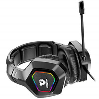 Soulion Tracer 30 PC Gaming Headset Virtual Stereo Surround Sound Computer Black