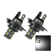 2x White RV H4 Front Blub Rear Lamp 13 Emitters 5050 SMD LED DIN49640T2 H101