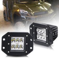 2X 4'' Flush Mount Backup LED Light Bar For Polaris RZR XP 900 1000 Ranger 570