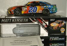 2017 MATT KENSETH #20 TIDE PODS AUTOGRAPHED COLOR CHROME 1/24 CAR#47/48 W/COA