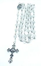 Clear AB Rosary Beads Absolutely stunning Luxurious Crystal Handmade by Niki