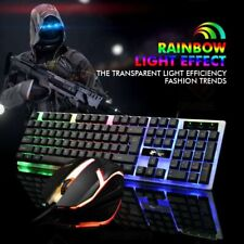Gaming Keyboard And Mouse LED Background