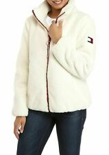 Tommy Hilfiger Womens Faux Fur Sherpa Full Zip Jacket. S,M