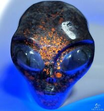 """4.1"""" SYENITE WITH SODALITE Star Being Female Alien Crystal with Labradorite Eyes"""