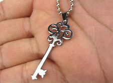 Hot key Women/ Men's Silver 316L Stainless Steel  Pendant Necklace No.1
