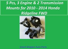 5pcs, 3 Engine & 2 Transmission Mount for 2010 2011 -  2014 Honda Ridgeline FWD