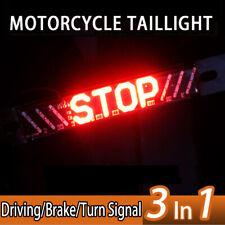 Led Waterproof Motorcycle Rear Tail Light Brake Stop Lamp DRL Turn Signal