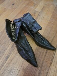 Women Ankle Brown Dress Booties Size 8.5