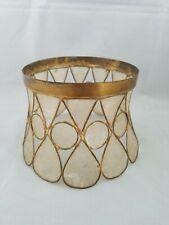 Vintage Capiz Shell Globe Ceiling Light Fixture Cover