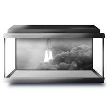 Fish Tank Background 90x45cm BW - Interstellar Space Travel Rocket  #43879