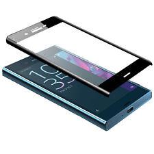 3D Displayschutz Glas Hartglas für Sony Xperia XZ - Full Cover Echt Glas Black