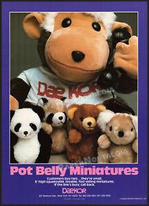 DAEKOR - POT BELLY plush toys__Original 1982 Trade Print AD / poster__bear_koala