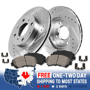 Note: Model with Rear Discs 2015 For Toyota Yaris Front Disc Brake Rotors and Ceramic Brake Pads Stirling
