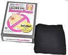 Calorie OFF Black Waist M/L Massage Trim Slim Shaper Burn Fat USA Ship