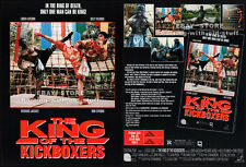 The KING of the KICKBOXERS__Orig. 1991 Trade print AD___BILLY BLANKS__DON STROUD