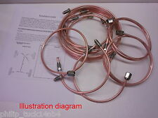 "Land Rover SERIES 2a/3 Copper Brake Pipe SET 88"" NEW"