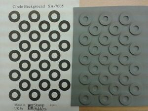 Circle background rubber stamp