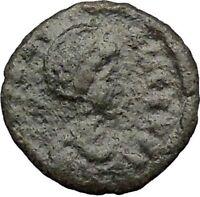 AELIA FLACILLA 379AD Ancient Rare Roman Coin VICTORY CHI-RHO Christ monog i32836