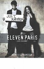 "PUBLICITE ADVERTISING  2010  ELEVEN PARIS ""just married"" ASH & LIZZIE JAGGER"