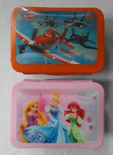 DISNEY Lenticular Lunchboxes - 3D - DISNEY PRINCESS; PLANES - dishwasher safe